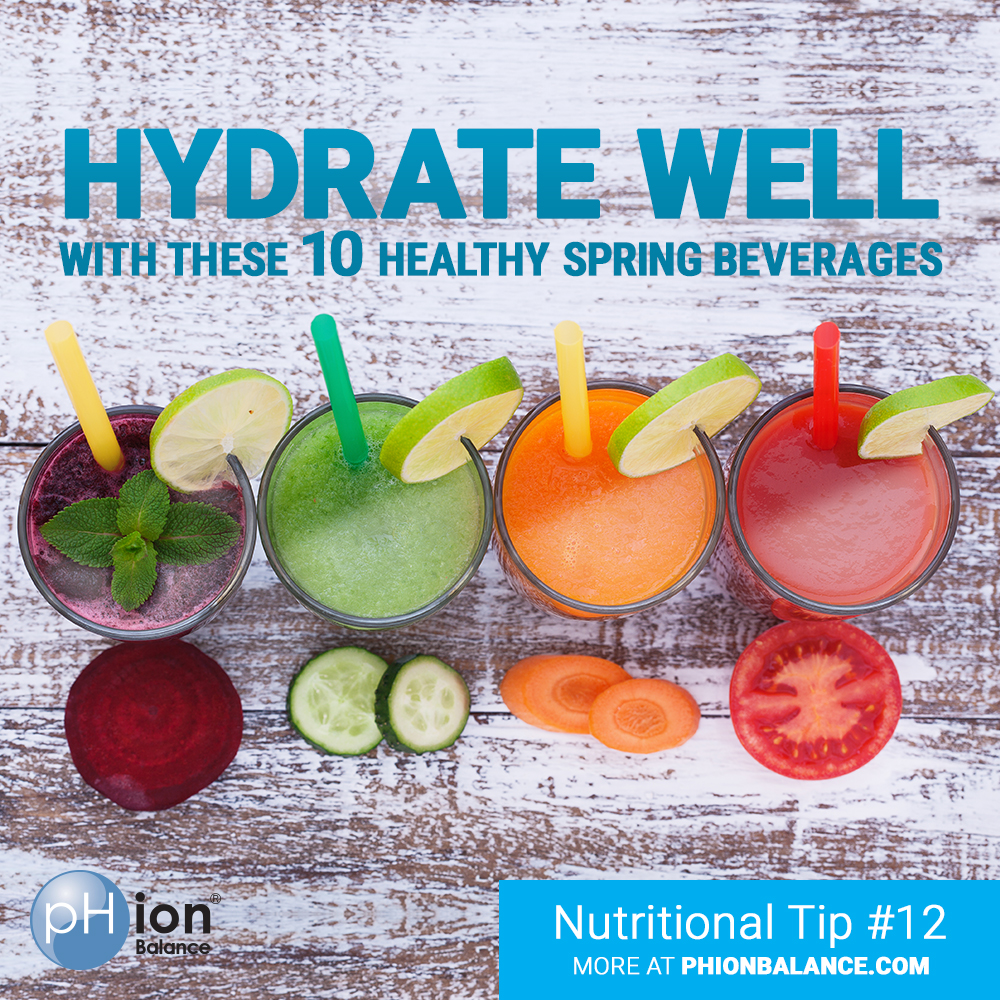 Hydrate Yourself With These 10 Healthy Spring Beverages