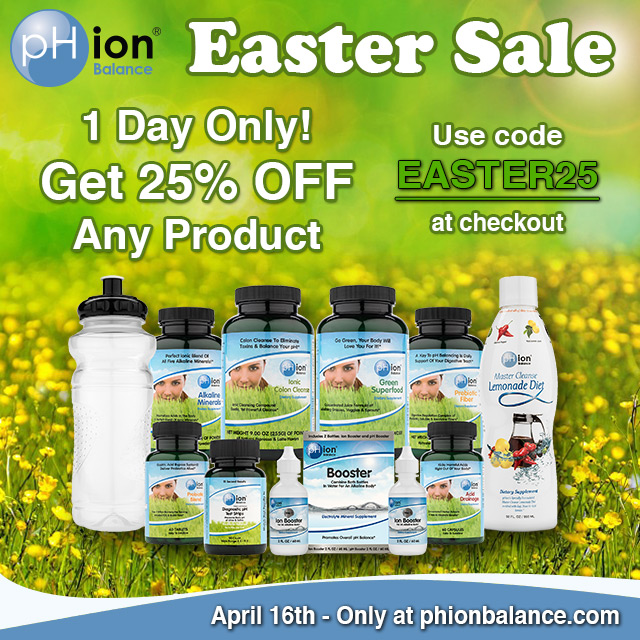 Easter pHion Balance Product And Glass Water Bottle Flash Sale