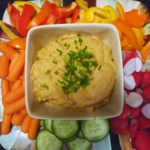 Unhealthy Habits Office - Veggies and Hummus